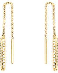 Ileana Makri - Diamond Drop Chain Earrings - Lyst