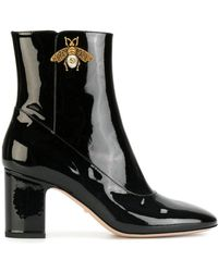 c363e93461f Lyst - Gucci Dionysus Leather Ankle Boots in Black