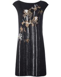 Class Roberto Cavalli - Floral Intarsia Mini Dress - Lyst