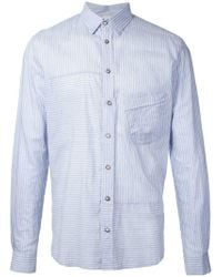 Forme D'expression - Striped Panelled Shirt - Lyst