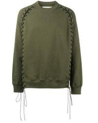 Johnlawrencesullivan - Tie Front Sweatshirt - Lyst