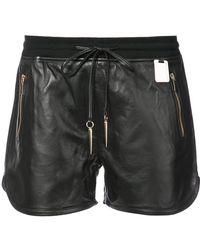 Thomas Wylde - Zip Detailed Leather Shorts - Lyst