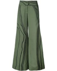 Marina Moscone - Marble Stripe Tuxedo Trousers - Lyst
