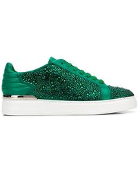 Philipp Plein - Embellished Low-top Sneakers - Lyst