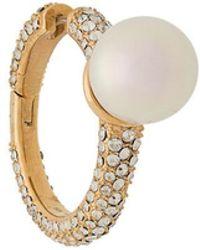 Ambush - Pearl And Crystal Earring - Lyst