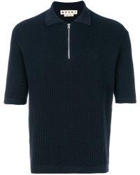 Marni - Zipped Polo Shirt - Lyst
