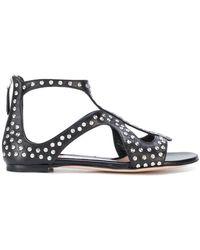 Alexander McQueen - Studded Open Toe Sandals - Lyst
