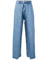AALTO - Cropped Palazzo Jeans - Lyst