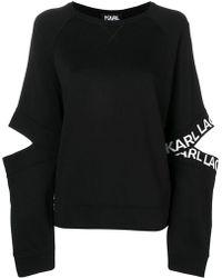 Karl Lagerfeld - Cut-out Sweatshirt - Lyst