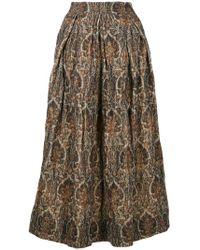 Uma Wang - Floral Print A-line Skirt - Lyst