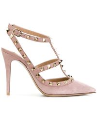 Valentino - Garavani Rockstud Ankle Strap Pumps - Lyst
