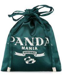 Hysteric Glamour - Panda Mania Drawstring Clutch Bag - Lyst