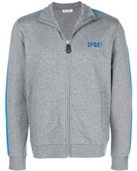 Dirk Bikkembergs - Zip Front Printed Sweatshirt - Lyst