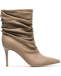 Gianvito Rossi - Nude Cecile 85 Leather Boots - Lyst
