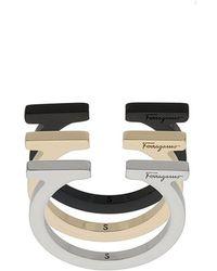 Ferragamo - Set Of Three Gancio Rings - Lyst
