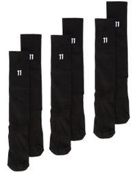 Boris Bidjan Saberi 11 - Ribbed Logo Socks - Lyst