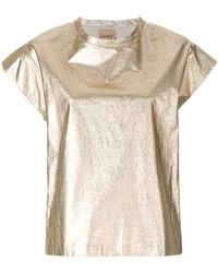 Nude - Relaxed Style T-shirt - Lyst