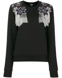 Just Cavalli - Embroidered Fitted Jumper - Lyst