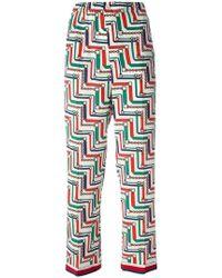 Gucci - Bridal Strap Printed Pyjama Trousers - Lyst