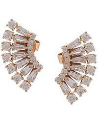 Anita Ko - 18kt Rose Gold Floating Ava Diamond Earrings - Lyst