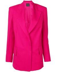 Erika Cavallini Semi Couture - Concealed Front Blazer - Lyst