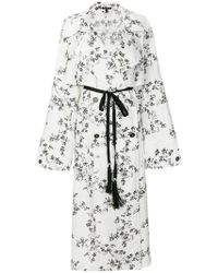 Ann Demeulemeester   Double-breasted Floral Coat   Lyst