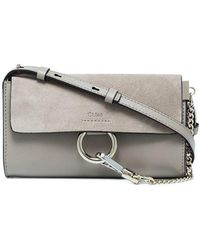 c7d02b0591802 Chloé Faye Mini Leather Wallet Bag in Yellow - Lyst
