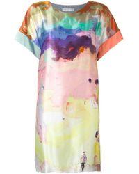 Tsumori Chisato - Watercolour Print Dress - Lyst