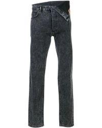Y. Project - Asymmetric Waist Jeans - Lyst