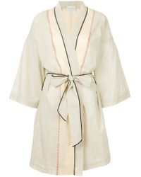 Forte Forte - Embroidered Draped Cardi-coat - Lyst