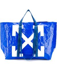 Off-White c/o Virgil Abloh - Arrows Print Oversized Tote - Lyst