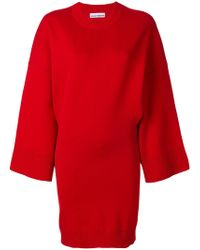 Paco Rabanne - Oversized Knitted Dress - Lyst
