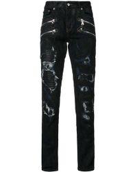 God's Masterful Children - Shredded Trim Slim-fit Jeans - Lyst