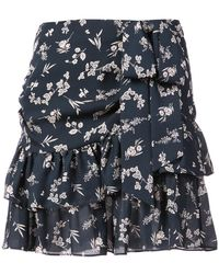 Cinq À Sept   Floral Print Skirt   Lyst