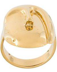 Aurelie Bidermann - 'melina' Oval Mask Ring - Lyst