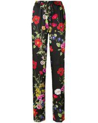 Blugirl Blumarine - Loose Fit Floral Trousers - Lyst