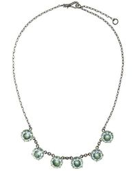 Bottega Veneta - Necklace In Silver And Naturale Brown Cubic Zirconia, Intrecciato Detail - Lyst