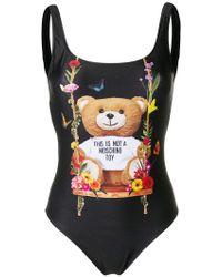 Moschino - Designer Print Swimsuit - Lyst
