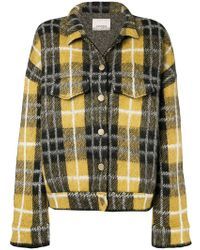 Laneus - Check Print Buttoned Jacket - Lyst