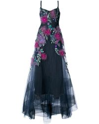 Marchesa notte - Embellished Floral Gown - Lyst