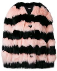 Miu Miu - Contrast Fur Jacket - Lyst