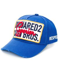 b75d917b928 Lyst - DSquared² Caten Brothers Baseball Cap in Blue for Men
