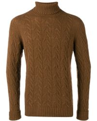 Drumohr - Cable Knitted Jumper - Lyst