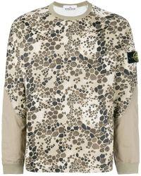 Stone Island - Alligator Camouflage Sweatshirt - Lyst