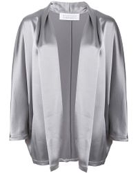 Gianluca Capannolo - Satin Open Front Jacket - Lyst