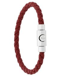 Ferragamo - Braided Press Clasp Bracelet - Lyst