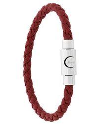 Ferragamo - Braided Press Clasp Bracelet - Lyst