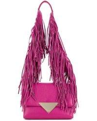 Sara Battaglia - Fringed Strap Shoulder Bag - Lyst