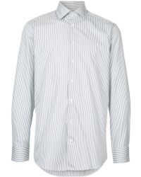 Hardy Amies - Long-sleeved Striped Shirt - Lyst