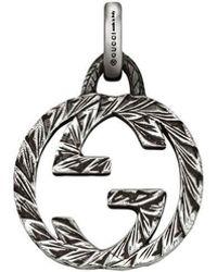 Gucci - Charm de G entrelazada de plata - Lyst